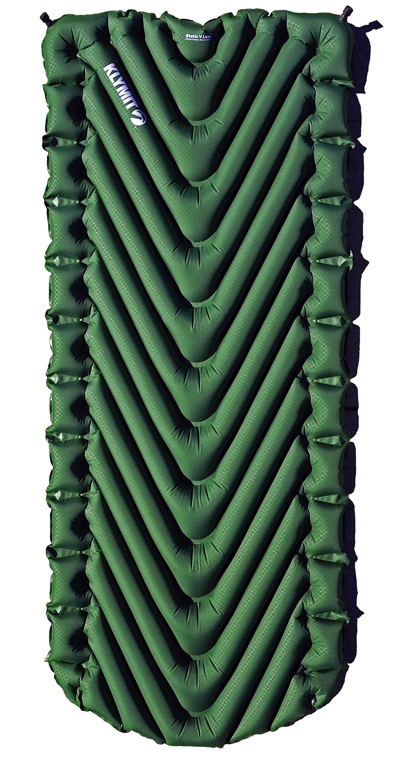 Klymit Static V Luxe Sleeping Pad for Camping, Hiking, and Backpacking (Moss Green) by Klymit