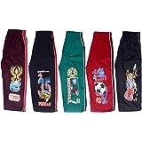 Devil Boys 3/4Th Cotton Capri Kids Shorts 5Pcs Pack With Five Different Colours