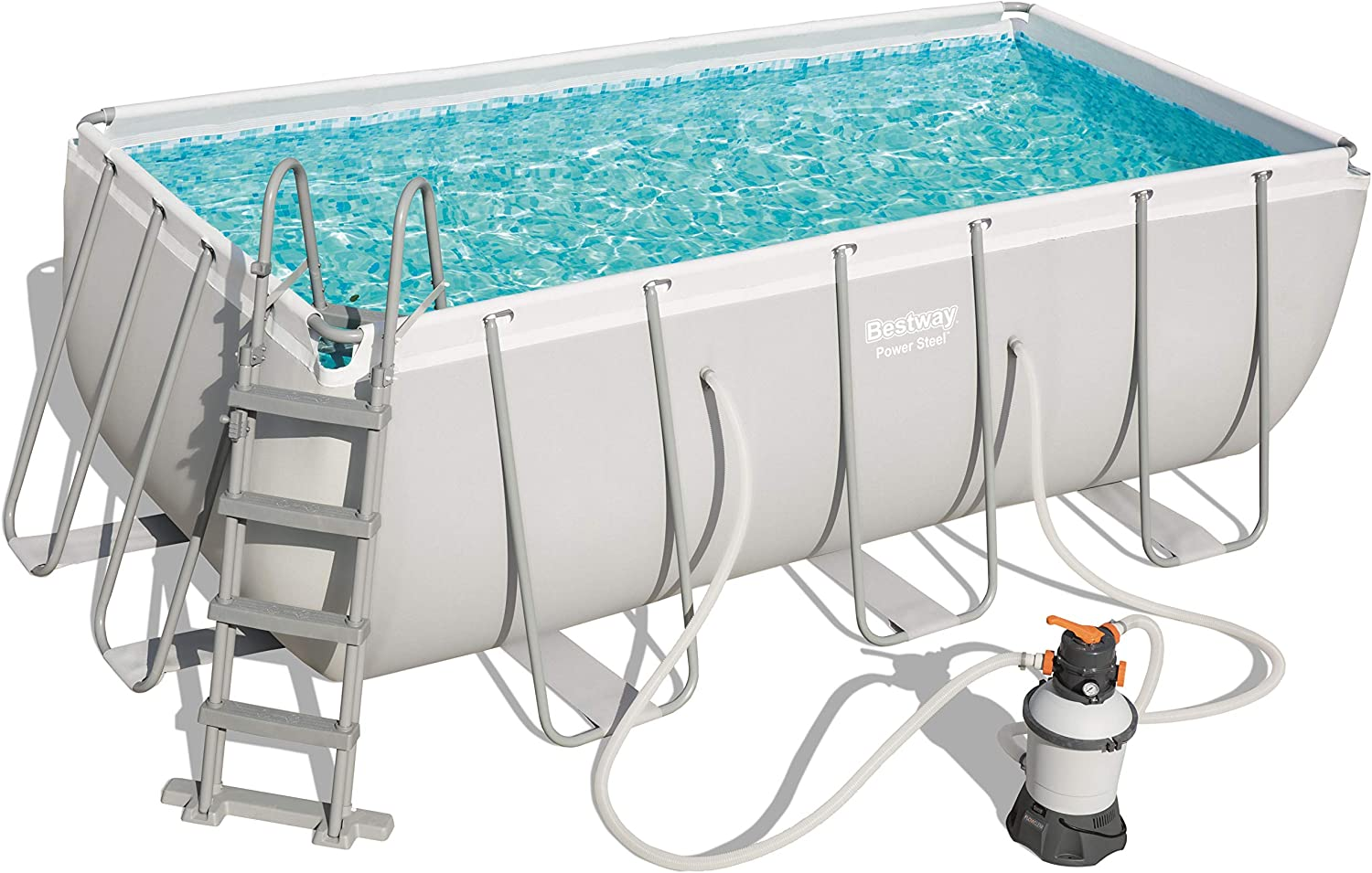 Bestway 56457 Power Steel Rectangular Pool 412 x 201 x 122 cm ...
