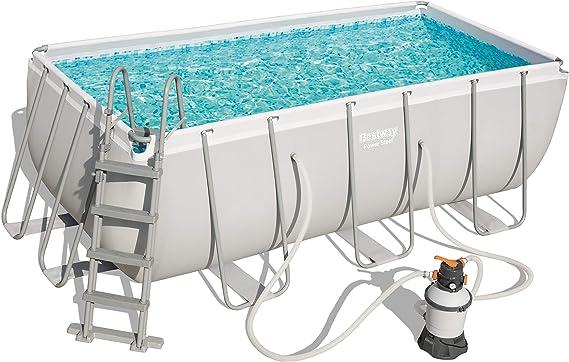 Bestway 56457 Power Steel Rectangular Pool 412 x 201 x 122 cm ...