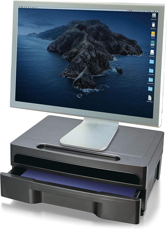 Officemate 2200 Series Executive Monitorständer Mit Schublade Schwarz 22502 Bürobedarf Schreibwaren