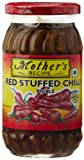 Mother's Recipe Red Stuffed Chilli Pickle, 400g