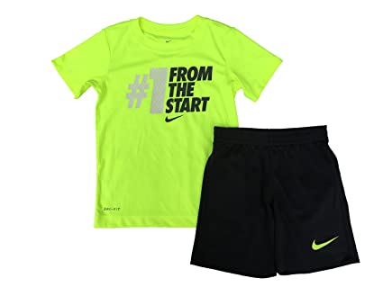 764d74994cbd Image Unavailable. Image not available for. Color: Nike Baby Boys' 2 Piece  Short Sleeve Shirt & Shorts Set ...