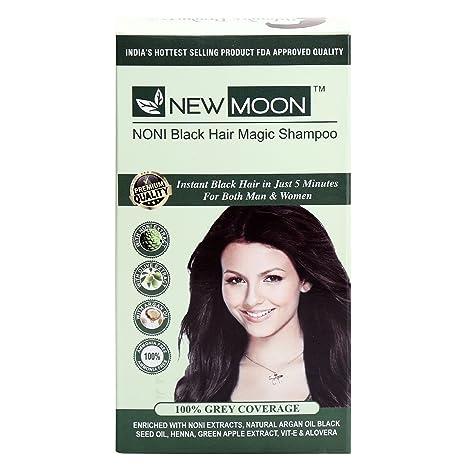 Buy New Moon Noni Natural Black Hair Dye Color Shampoo 20 Ml 5