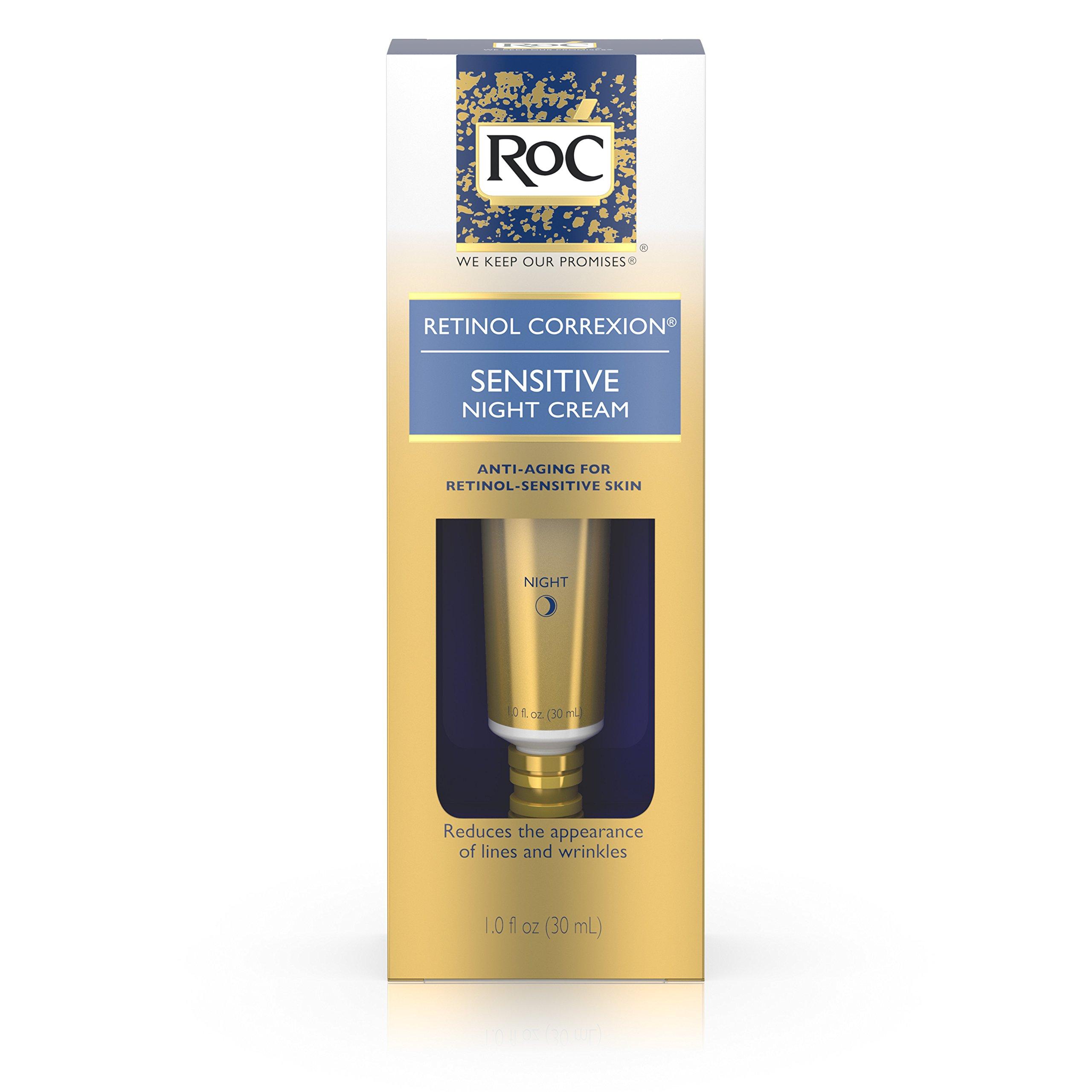 Roc Retinol Correxion Anti-Aging Sensitive Skin Night Cream, 1 Oz.