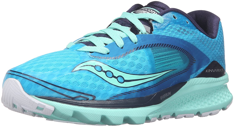 Saucony Women's Kinvara 7 Running Shoe B018F1HYFY 8 B(M) US Teal/Navy/Slime