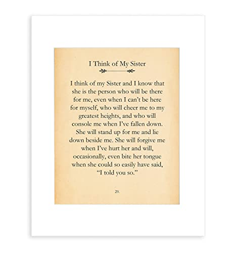 Amazoncom Sister Quotes Wall Decor Presents For Sister