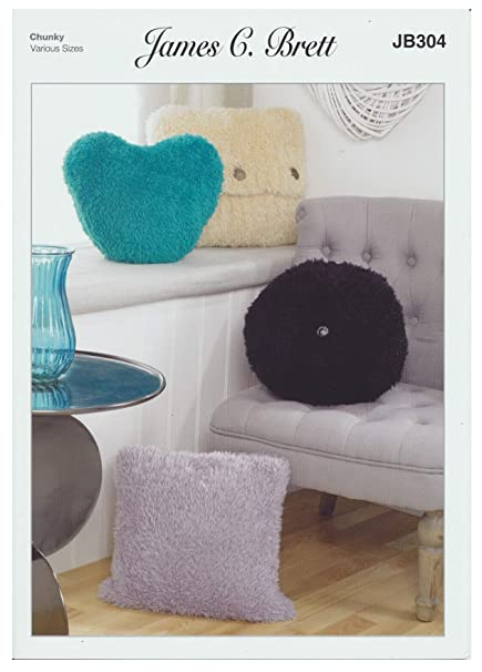 Amazon Com James Brett Chunky Knitting Pattern Square Round Heart