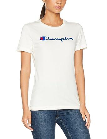 various colors new york competitive price Champion Classic Logo T-Shirt pour Femme: Amazon.fr ...