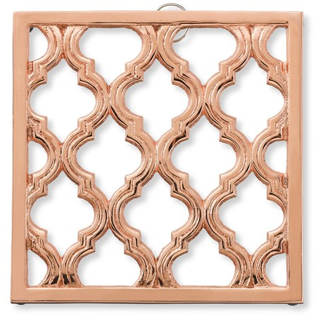 Copper-Plated Trellis Trivet | Williams-Sonoma
