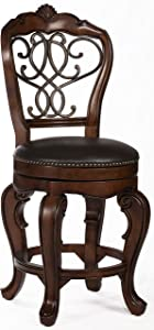 Hillsdale Furniture Burrell Swivel Counter Height Stool, Brown Cherry