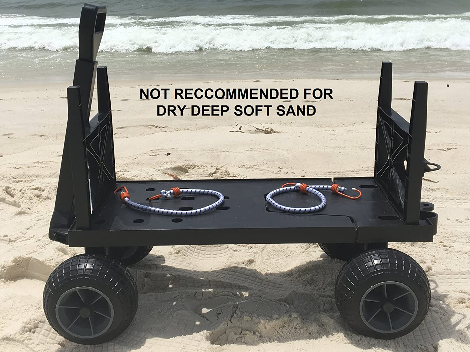 Amazon.com: Mighty Max Plus One Beach Cart Wagon with 4 All Terrain ...