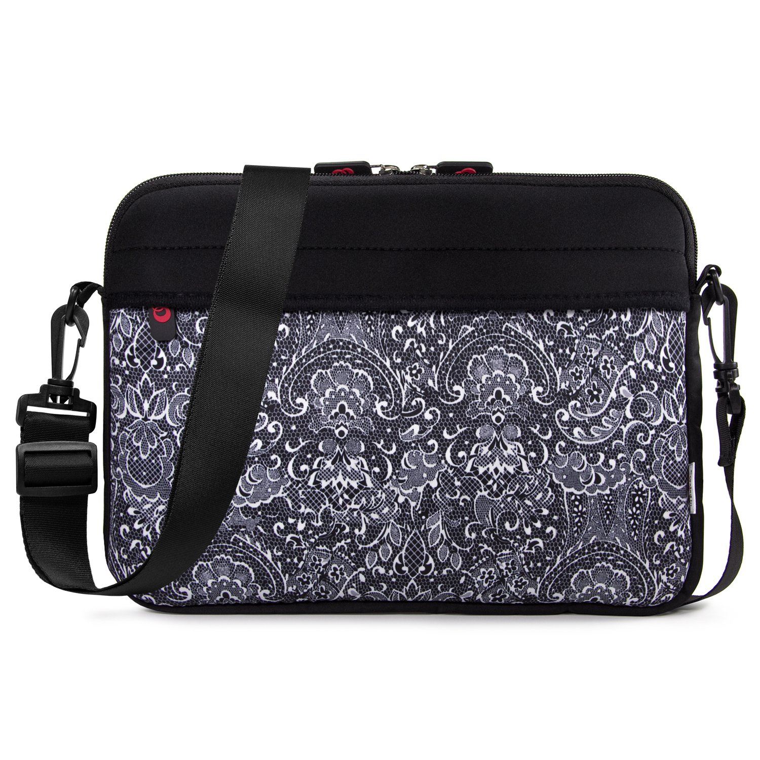 6f0e122cd918 7-9 inch Slim Neoprene Messenger Tablet Bag, Water Resistant Cover Sleeve  Case for Apple iPad Air, iPad Mini 4, Samsung Galaxy Tab, Insignia Tablets  ...