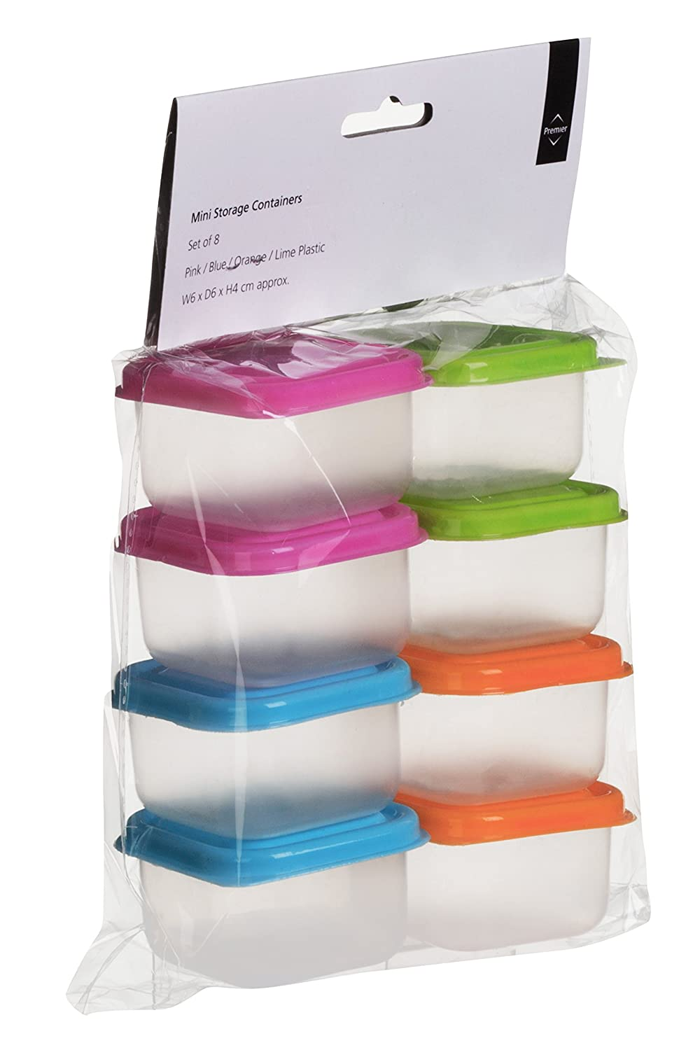 premier housewares mini storage containers set of 8 multi coloured amazoncouk kitchen home - Small Storage Containers
