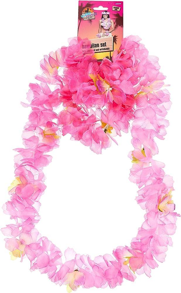 Pink Lei Headband Wristband Set