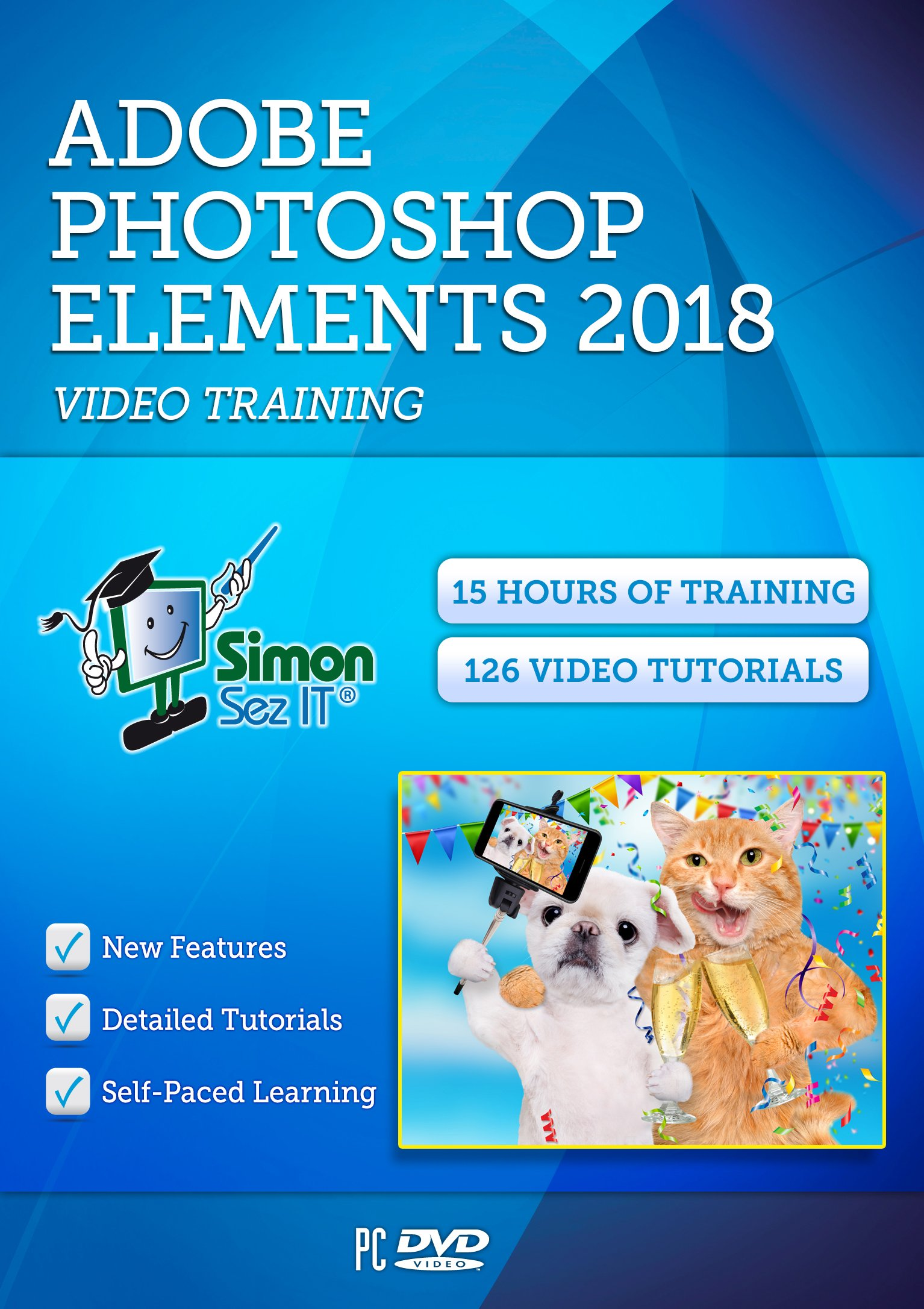 Photoshop Elements 2018 Self-Paced DVD Training Course By Simon Sez IT | Perfect Images & Pictures With A 15-Hour, Comprehensive & Easy To Follow Course by Simon Sez IT