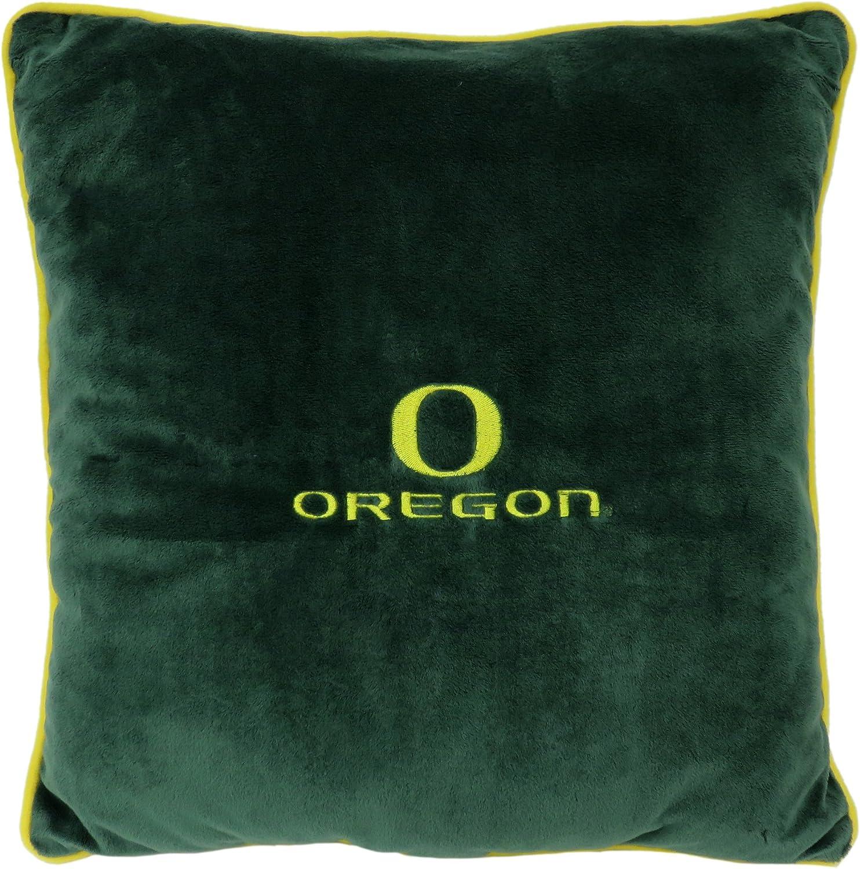 Pets First Collegiate Pet Accessories, Dog Pillow, Oregon Ducks, 16 x 16 x 3 inches