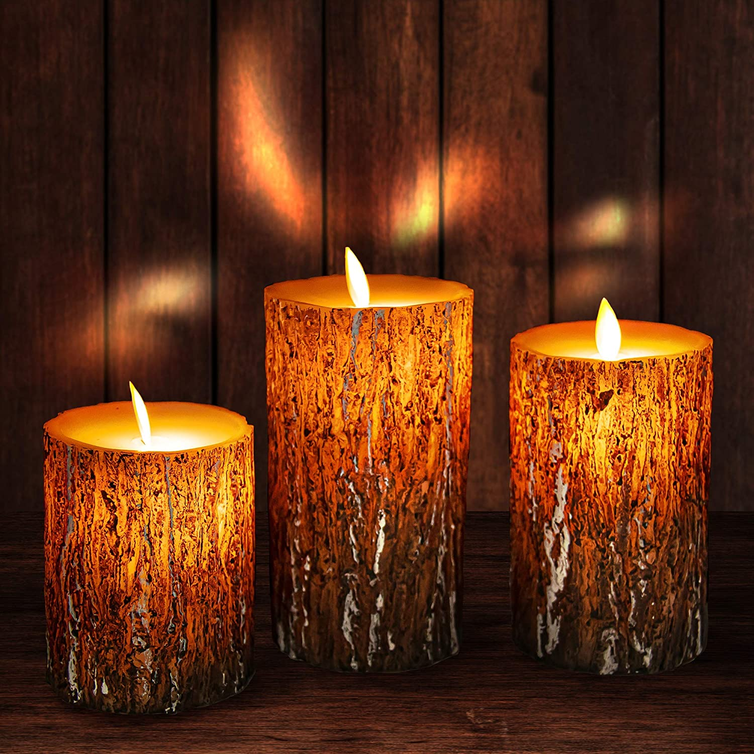 """Flameless Candles Led Candles, Battery Operated Candles Fake Candles with Real Wax, Remote Control, 24-Hour Timer Function, 2 AA Battery, Realistic Dancing Electric Candles 4"""" 5"""" 6"""" Pack of 3"""