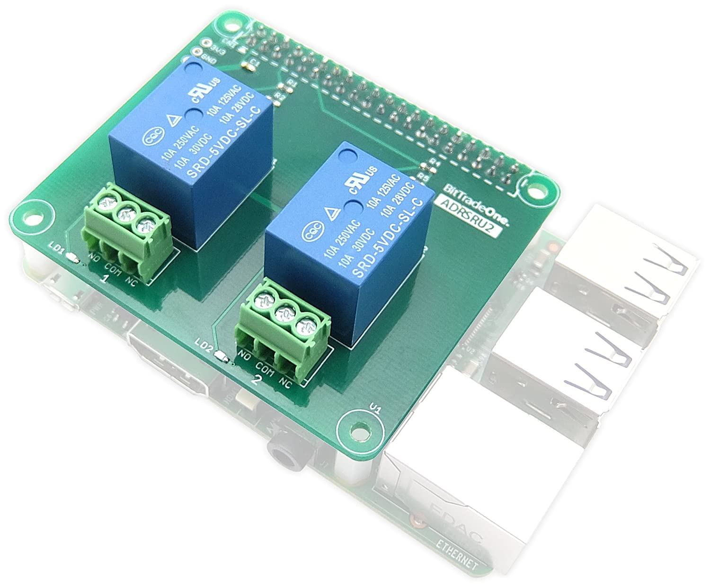 amazon adrsru8 raspberry pi 用リレー制御拡張基板 8回路 bit