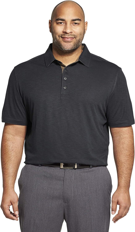 Van Heusen Men's Big and Tall Short Sleeve Air Performance Solid Polo Shirt