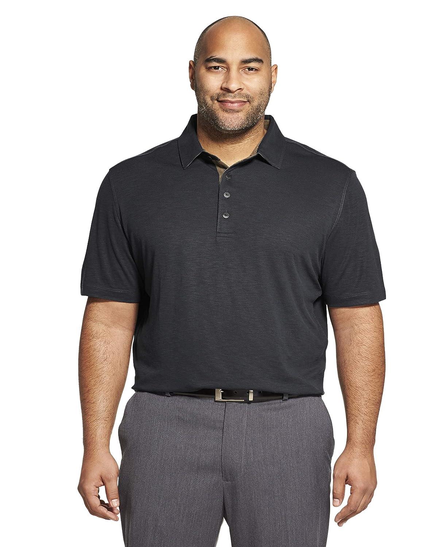 Noir Taille XL  Hauteur Van Heusen manche courte Air Perforhommece Solid Polo Shirt Homme