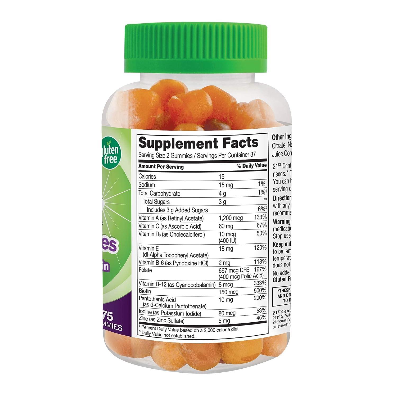 Amazon.com: 21st Century Vitajoy Multi Gummies, Orange, Cherry and Strawberry, 75 Count: Health & Personal Care
