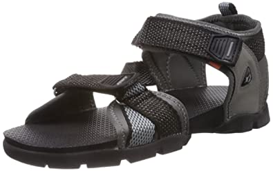 155fe1e18 Sparx Men s Black and Grey Athletic and Outdoor Sandals - 10 UK India (44.67