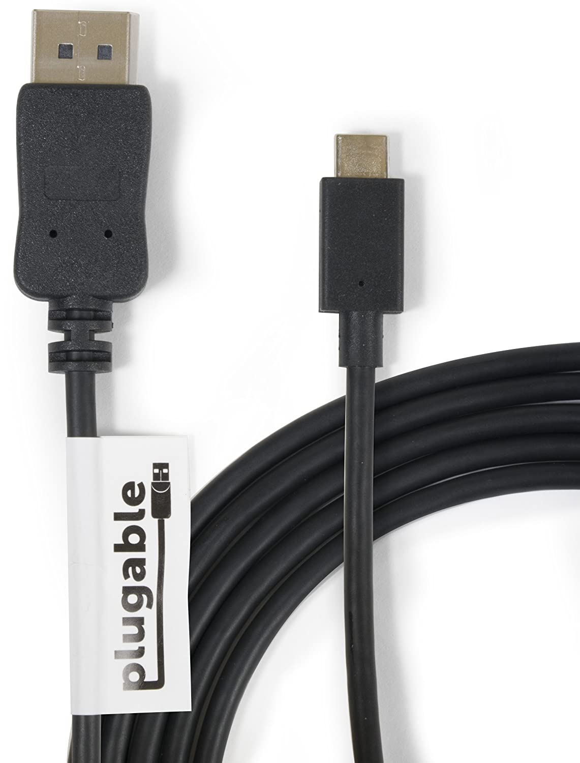 Plugable Usb C To Displayport Adapter 6ft 18m Power Injector For External Hard Drivesusb Cable Supports Resolutions Up 4k At 60hz Computers Accessories