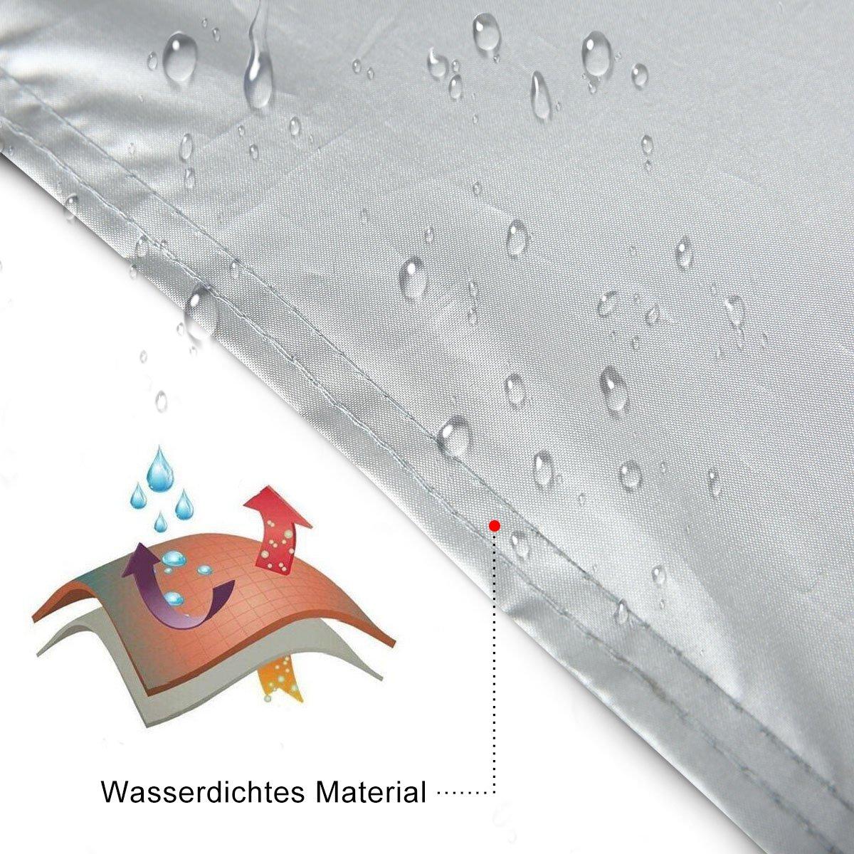 Amazon.es: MATCC Funda Exterior para Coche Semi Garaje Funda Protector de Parabrisas Resistente al Polvo a los Rayos UV y a Luz de Sol (280 * 150 * 60cm)