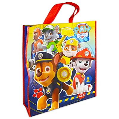 Paw Patrol Large Sized Non Woven PP Tote Bag With Foil Trim: Toys & Games