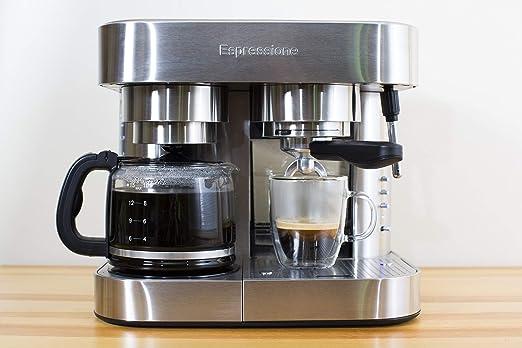 Amazon.com: Espressione EM-1040 Stainless Steel Machine Espresso and Coffee Maker 1.5 L: Kitchen & Dining