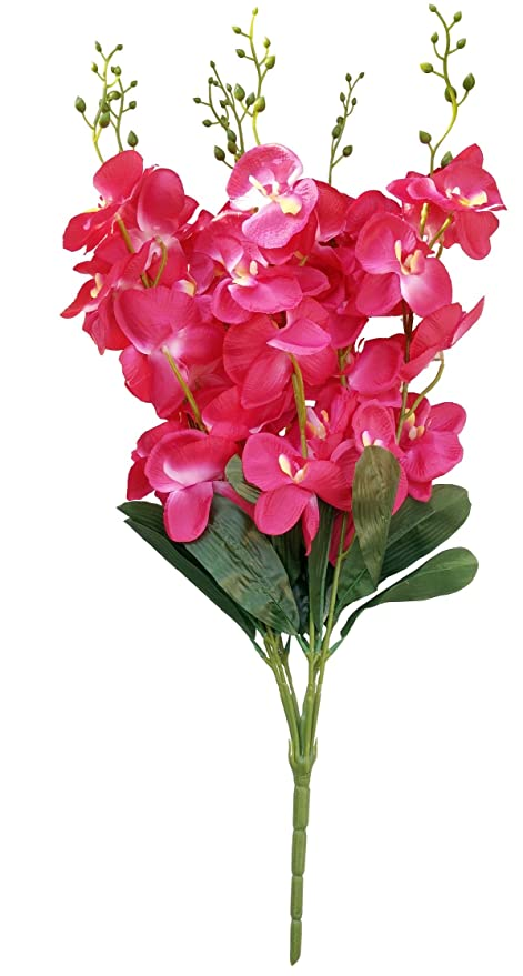 Kaykon Super Quality Artificial Orchid Flower Bunch Natural Looking