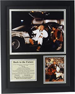 """Legends Never Die """"Back to The Future Framed Photo Collage, 11 x 14-Inch"""