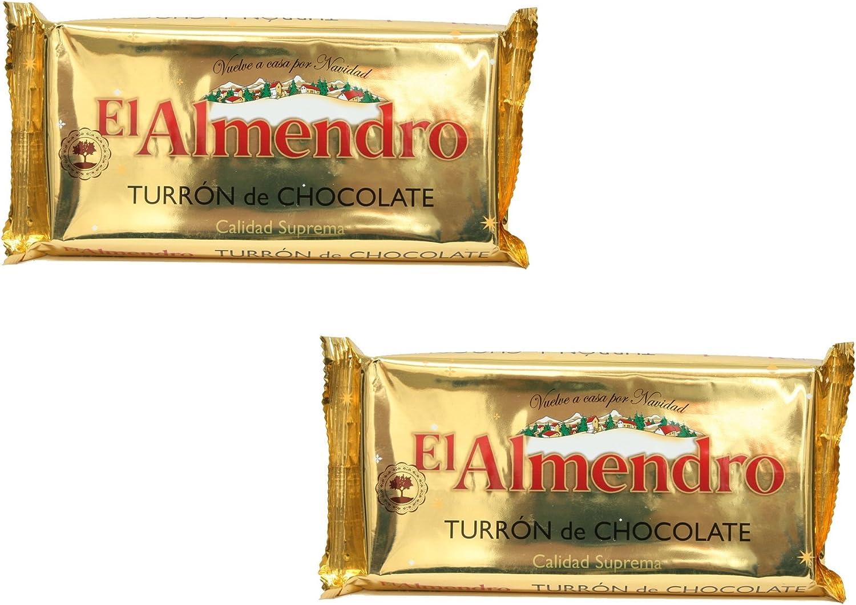 El Almendro - Pack incluye 2 Turron de Chocolate, Turron duro con arroz hinchado - Calidad Suprema - 285gr: Amazon.es: Alimentación y bebidas