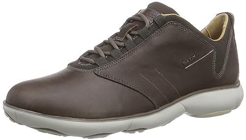 472e88dcd Geox U Nebula A - Zapatilla Deportiva de Cuero Hombre  Amazon.es  Zapatos y  complementos