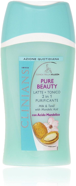 Clinians - Latte + Tonico 2 in 1 Purificante, con Acido Mandelico - 200 ml Mirato