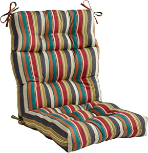 South Pine Porch Outdoor Sunset Stripe High Back Chair Cushion
