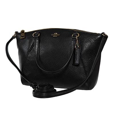 25e924e5a Amazon.com: Coach Pebble Leather Mini Kelsey Satchel Crossbody Handbag,  Black: Shoes