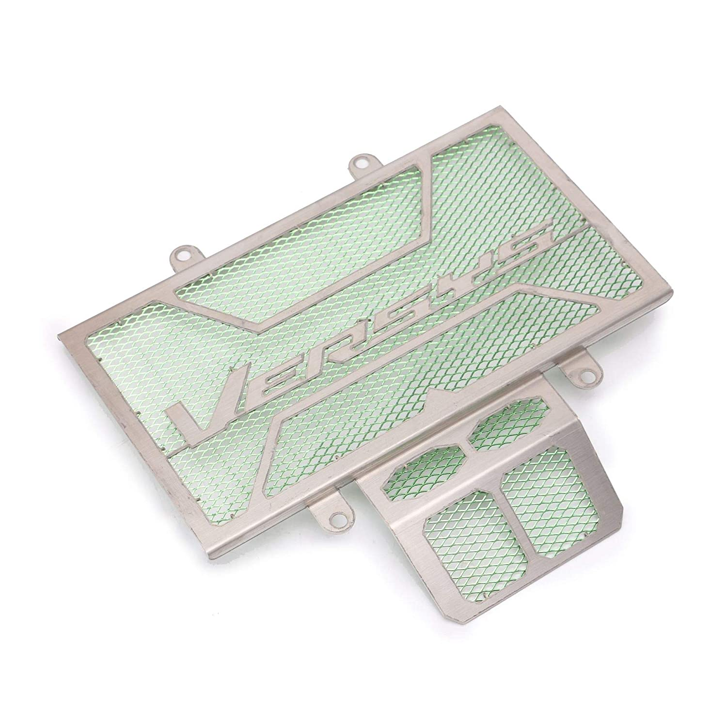 Easygo Motorcycle CNC Stainless steel Radiator Grill Green Protection suitable for Kawasaki VERSYS 250 2017-2018