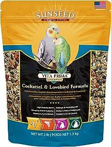 Sunseed 49030 Vita Prima Sunscription Cockatiel And Lovebird Food - High-Variety Formula, 3 LBS