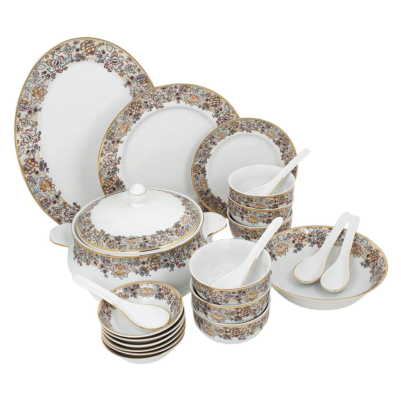 Buy Azure Dinner Set-High Quality Designer Tableware Dinner Set of 35-Regalia Online at Low Prices in India - Amazon.in  sc 1 st  Amazon.in & Buy Azure Dinner Set-High Quality Designer Tableware Dinner Set of ...