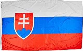 product image for Annin Flagmakers Model 221815 Slovakia Flag Nylon SolarGuard NYL-Glo, 5x8 ft, 100% Made in USA to Official United Nations Design Specifications