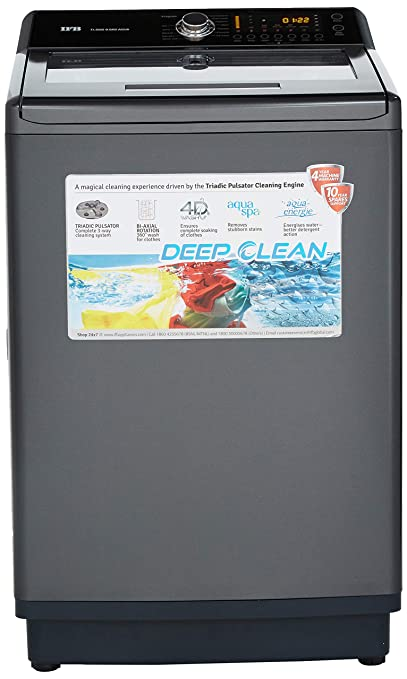 IFB TLSDG Fully automatic Top loading Washing Machine  9.5 Kg, Graphite Grey, Aqua Energie water softener  Washing Machines   Dryers