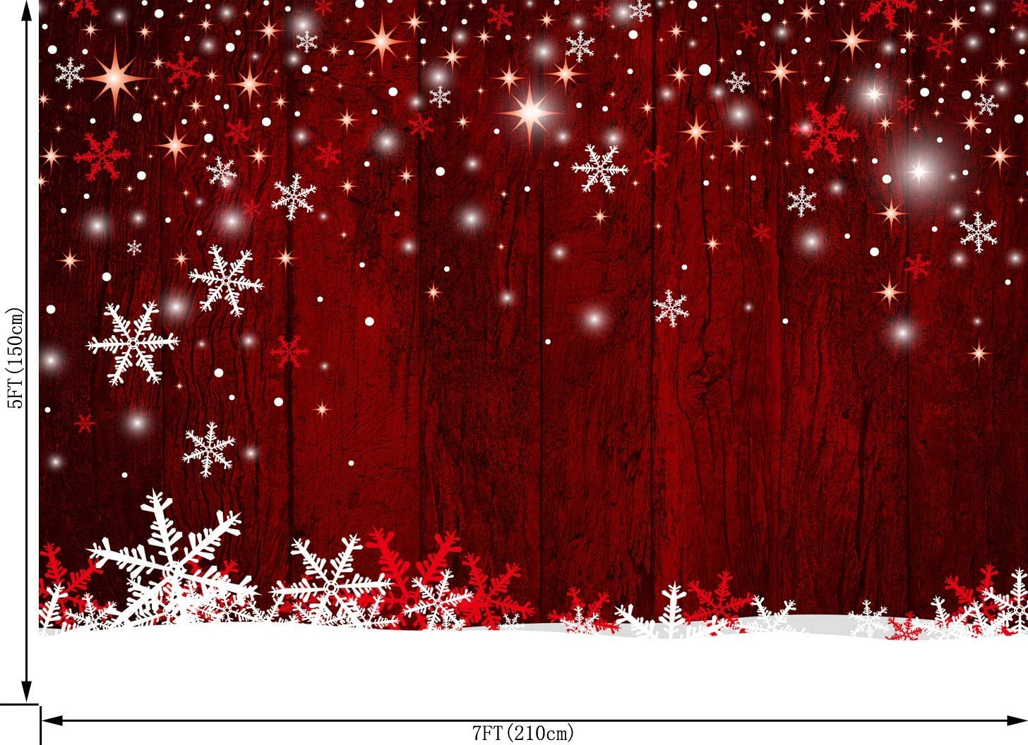 GoEoo 10X8FT Christmas Themed Fireplace Vinyl Photography Backdrop Photo Background Studio Prop CEM07C