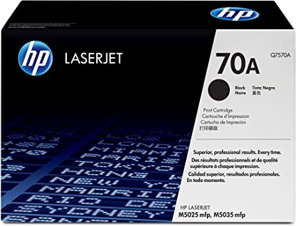 HP LaserJet Q7570A Print Cartridge (Black) Toner Cartridges at amazon