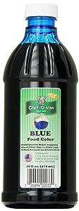 Chef-O-Van Food Coloring, Blue, 16 Ounce