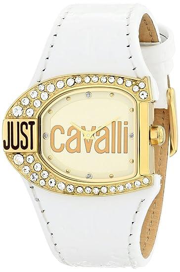 Just Cavalli Just time R7251160575 - Reloj de mujer de cuarzo, correa de piel color blanco: Amazon.es: Relojes