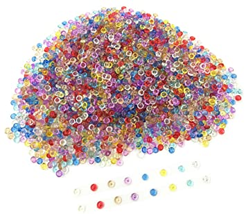 Pecera Color mezclado cuentas para crujientes Slime – perlas de plástico transparente florero Filler pecera cuentas