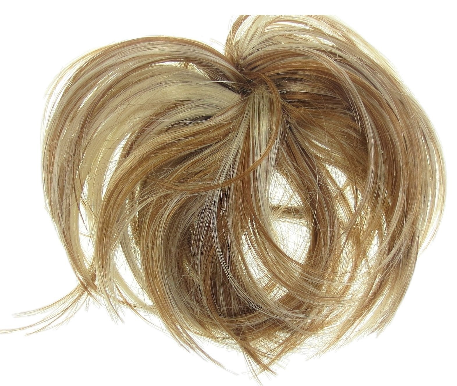 New Style Hair Extension Scrunchie Natural Blonde Up Do Down Do Mult Tones Sp. Synthetic