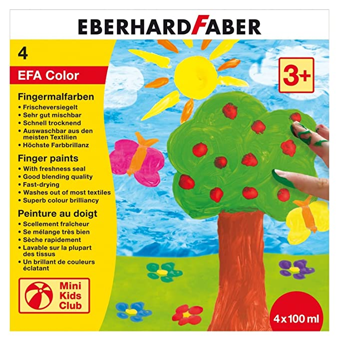 Eberhard Faber 578804 - Fingerfarbe 4 x 100 ml in Schachtel: Amazon ...